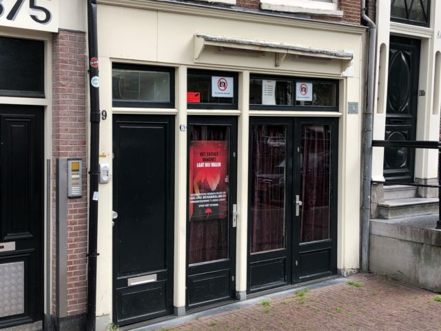 Careful contact: clients return to the Red Light District as sex work restarts